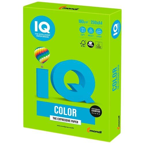 Фото - Бумага IQ Color А4 160 г/м² 250 лист., ярко-зеленый MA42 бумага iq color а4 160 г м² 250 лист 5 пачк золотистый go22