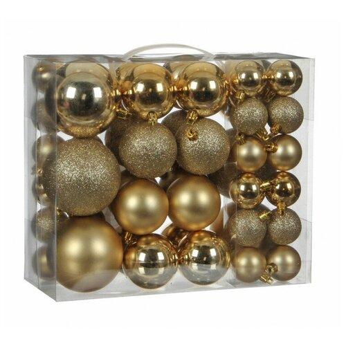 Набор елочных шаров House of seasons 83104, золотой, 46 шт.