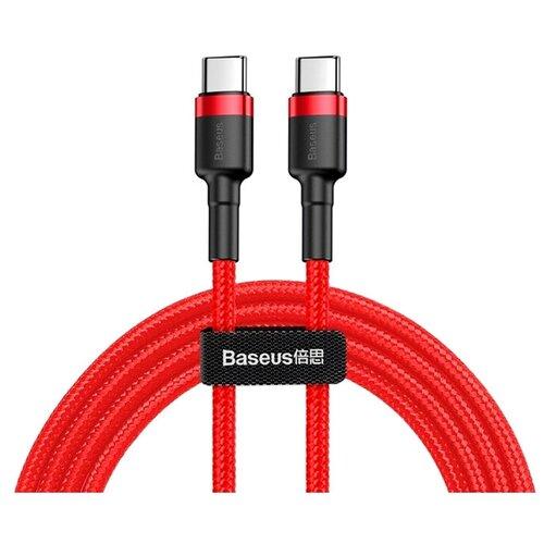 Кабель Baseus Cafule PD USB Type-C - USB Type-C 1 м, красный/черный кабель baseus double fast charging usb usb type c catkc 1 м красный
