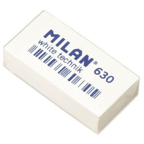 Купить Ластик пластиковый Milan Technic 630 белый 5 штук, Ластики
