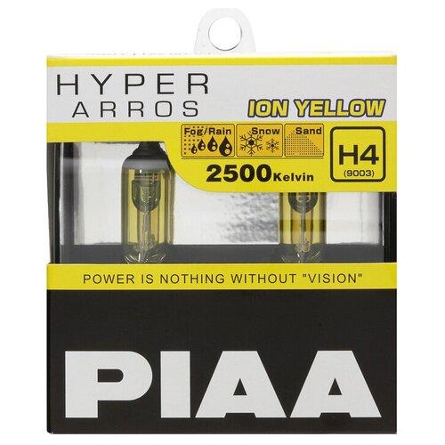 Лампа автомобильная галогенная PIAA Hyper Arros Ion Yellow (HE-990Y-H4) H4 12V 60/55W 2 шт.