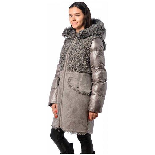Зимняя куртка женская EVACANA 21702 (Серый 86/44)