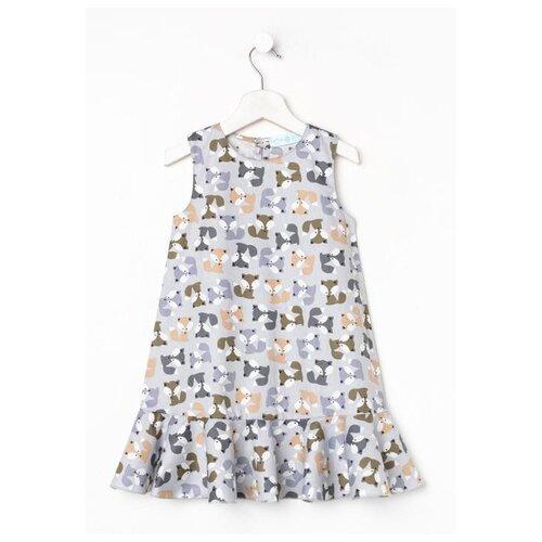 Купить Платье Kaftan размер 122-128, серый, Платья и сарафаны