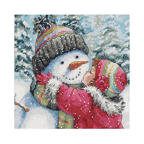 Dimensions Набор для вышивания A Kiss for Snowman (Поцелуй для снеговика) 15 х 15 см (70-08833) dimensions набор для вышивания мать 15 х 15 см 06709