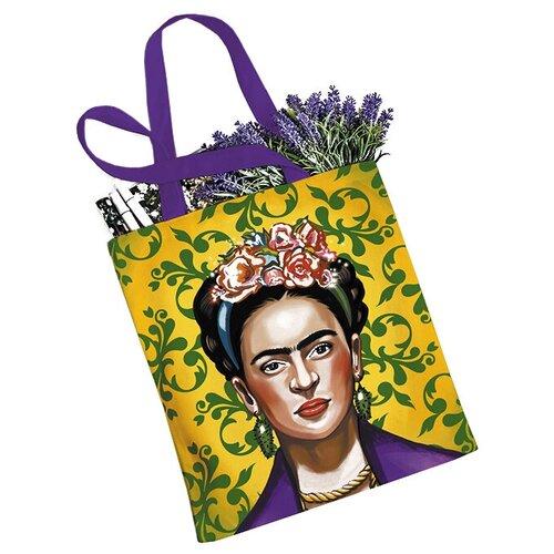 Сумка женская JoyArty, текстиль, желтый/фиолетовый