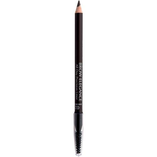 Seventeen карандаш Brow Elegance All Day Precision Liner, оттенок 02, Dark Brown карандаш для бровей brow elegance all day precision liner 1 8г no 02