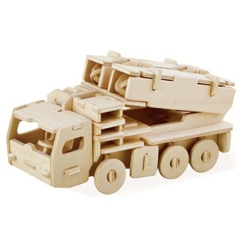 сборная модель мир деревянных игрушек ракетная установка п052 Сборная модель REZARK Ракетная установка ROT-013