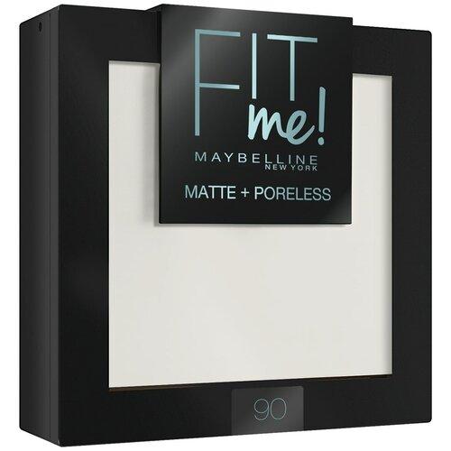 Maybelline New York Fit Me пудра компактная матирующая скрывающая поры 90 прозрачный матирующая фиксирующая пудра для лица maybelline new york face studio setting powder 9 мл