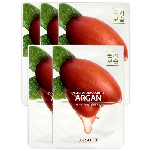 Купить The SAEM Тканевая маска с экстрактом арганы Natural Argan Mask Sheet 5 шт.