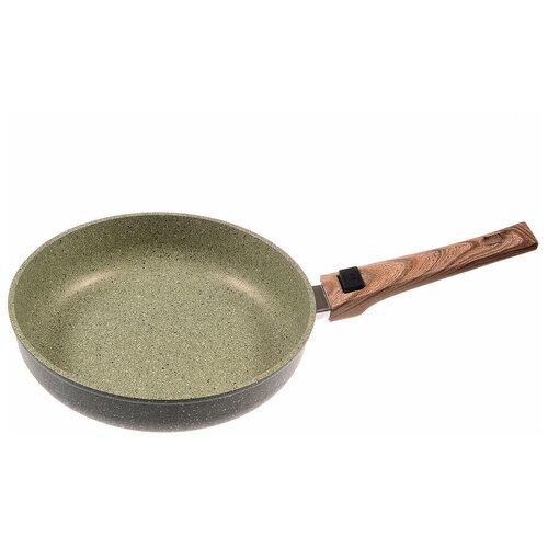Сковорода Panairo OliverStone O-26-G-S, 26 см, съемная ручка, зеленый сотейник panairo oliverstone max 26см o 26 s k