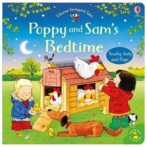 Купить Poppy and Sam's: Bedtime Board Book, Usborne, Детская художественная литература