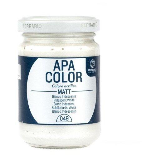Акрил Ferrario Apa Color 1л № 49 белый переливающийся BA0090E049