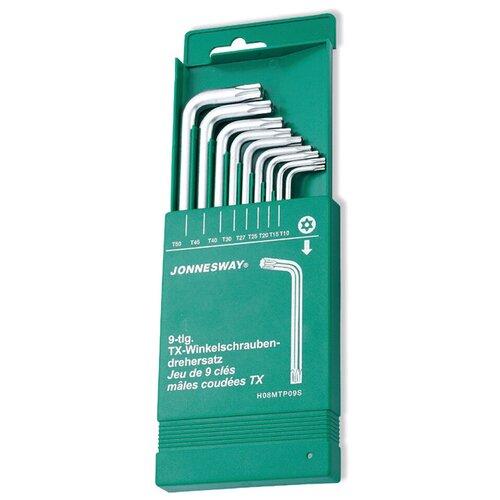 Фото - Набор имбусовых ключей JONNESWAY H08MTP09S, 9 предм., зеленый набор бит jonnesway s29h4115s 15 предм зеленый