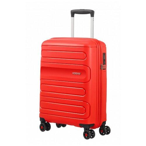 Чемодан American Tourister Sunside 35 л, sunset red чемодан american tourister sunside черный m