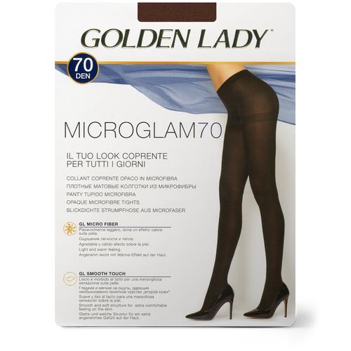 Колготки Golden Lady Microglam, 70 den, размер 3-M, rocky red (коричневый) колготки golden lady microglam 70 den размер 3 m nero черный