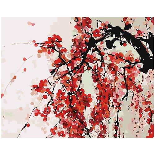 Купить Картина по номерам Китайская живопись Сакура, 80 х 90 см, Красиво Красим, Картины по номерам и контурам