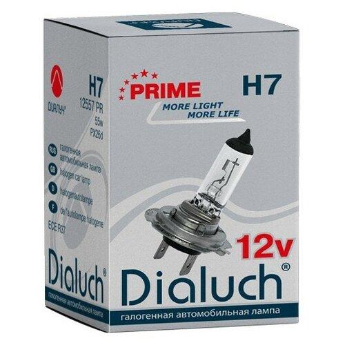 Лампа 12V автомобильная галогеновая Н7 12V 55W (PX26d) 12557-PR, ДИАЛУЧ, шт.