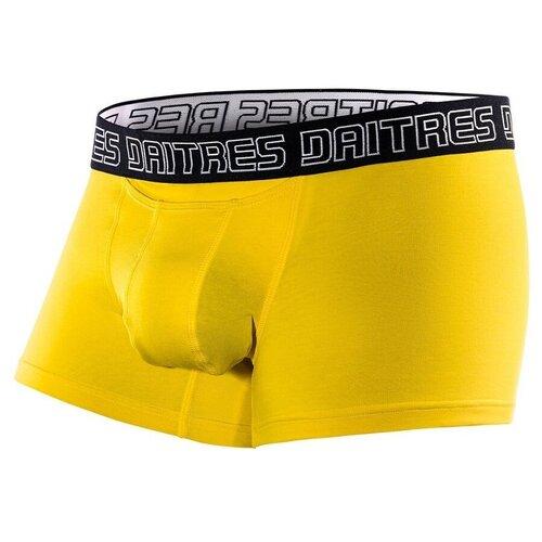 Daitres Трусы боксеры короткие с профилированным гульфиком, размер 5XL/62, желтый