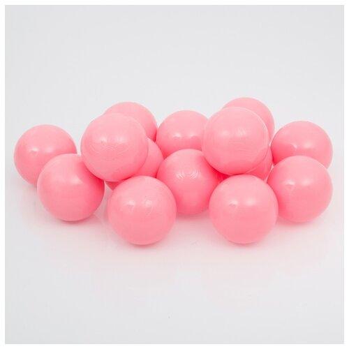 Шарики для сухого бассейна Соломон с рисунком, d 7,5 см, 150 штук, цвет розовый
