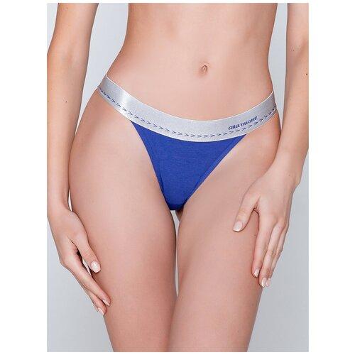 Alla Buone Трусы танга с широкой резинкой с логотипом, размер XL(50), синий