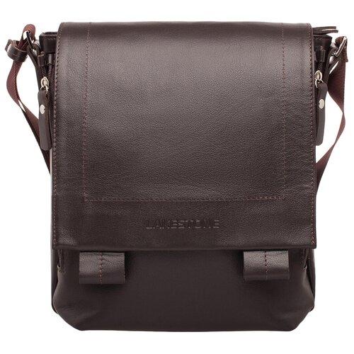 Фото - Кожаная сумка через плечо Cherington Brown мужская кожаная коричневая сумка milano brown 9282 коричневая