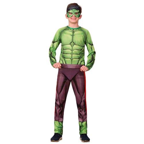 Костюм Батик Халк (1921), зеленый/коричневый, размер 146 брюки sela размер 146 коричневый
