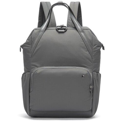 рюкзак женский tatonka magpie для учебы и работы цвет темно серый 17 л Женский рюкзак антивор Pacsafe Citysafe CX Backpack, серый, 17 л.