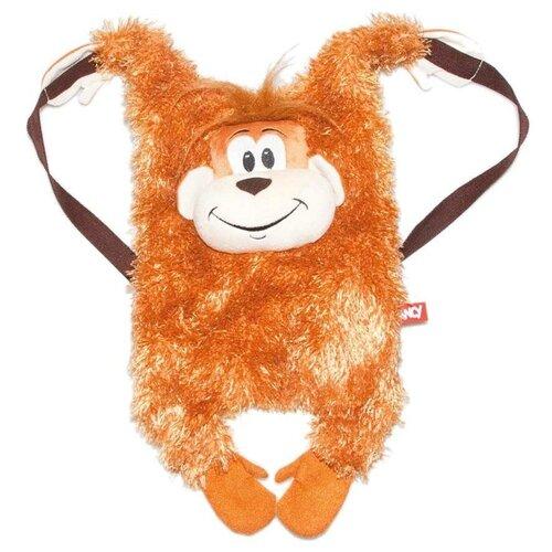Сумка-рюкзак FANCY, искусственный мех, коричневый