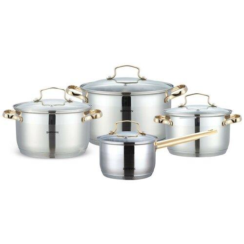 Фото - Набор посуды Bohmann 1908BH/BHG 8 пр. стальной с позолотой bohmann набор для специй 7817bh стальной