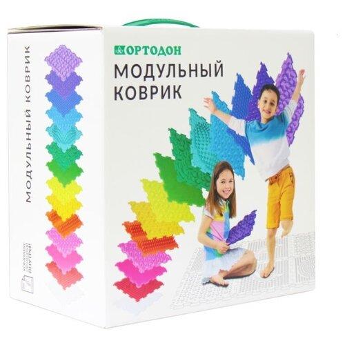 Детский модульный массажный коврик ОРТОДОН, набор MIX №10 (10 пазлов) + Детский модульный массажный коврик ОРТОДОН, набор MIX №10 (10 пазлов)