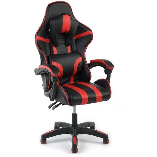 Игровое кресло Экспресс офис 203, обивка: искусственная кожа, цвет: искусственная кожа черно-красная