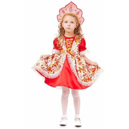 Купить Костюм пуговка Царевна (1017 к-18), белый/красный, размер 140, Карнавальные костюмы