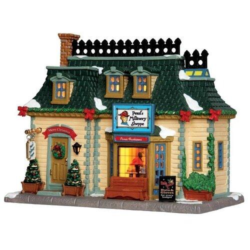 фигурка lemax платформа с рождественскими игрушками 10 4 x 18 x 10 см красный зеленый Фигурка LEMAX Магазин дамских шляп 21 x 7.8 x 12.5 см бежевый/зеленый