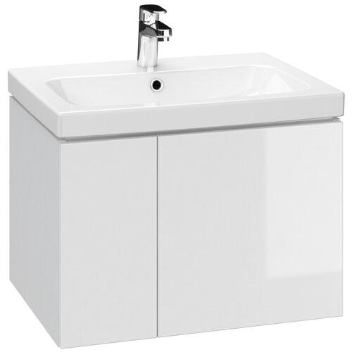 Тумба для ванной комнаты, под раковину Cersanit Colour с двумя дверками, ШхГхВ: 60х44.7х41.6 см, цвет: белый 60 тумба под раковину cersanit melar шхгхв 49 2х39х68 см цвет белый