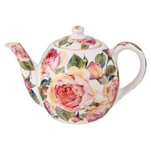 Lefard Заварочный чайник Винтаж 1 л, белый lefard заварочный чайник корейская роза 1 3 л белый розовый золотой
