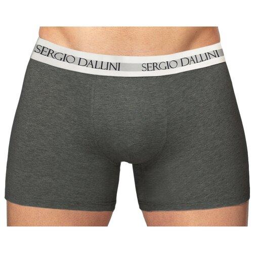 Sergio Dallini Трусы боксеры с классической посадкой, размер XL, темно-серый sergio dallini трусы боксеры с классической посадкой размер m серый