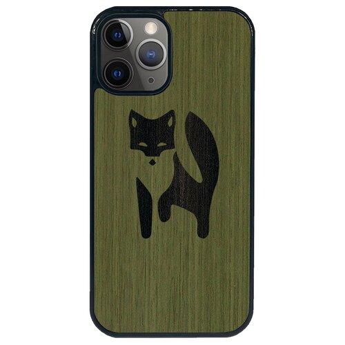 Чехол Timber&Cases для Apple iPhone 12/12 Pro TPU WILD collection - Хитрость леса/Лиса (Зеленый Кото - Эвкалипт)