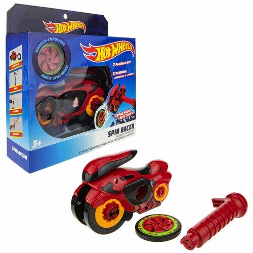 Колесо-гироскоп Hot Wheels Spin Racer Красный Мустанг (Т19372), красный