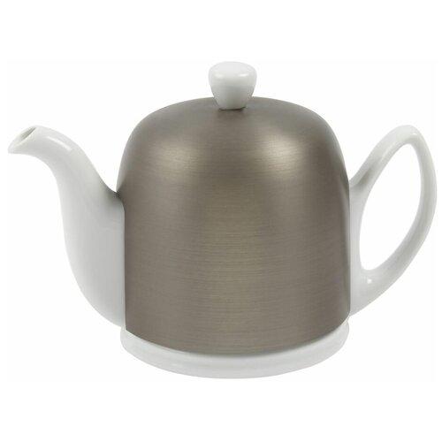 Фото - Чайник заварочный Salam White (0.9 л), с колпаком, на 6 чашек 216416 Guy Degrenne чайник заварочный salam white 0 37 л с колпаком с ситечком на 2 чашки 211987 guy degrenne