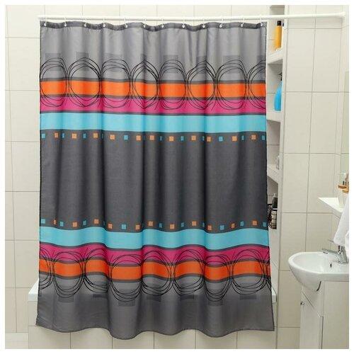 Штора для ванной Доляна Абстракция 180x180 абстракция штора для ванной доляна малевич 180x180 малевич