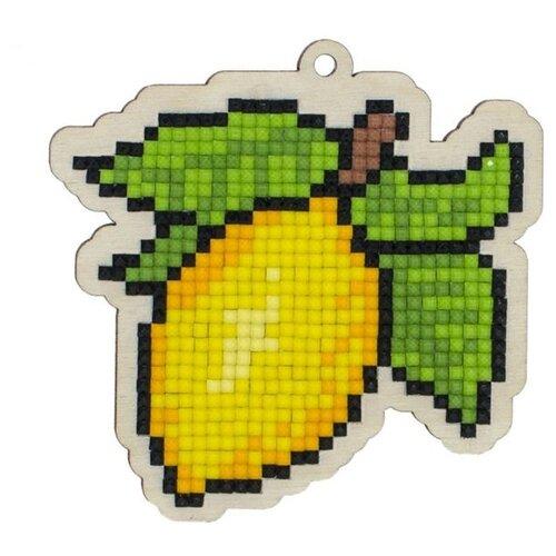 Купить Алмазная вышивка на дереве Подвеска «Лимон», 8, 8x8, 6 см, Гранни Wood, Алмазная мозаика