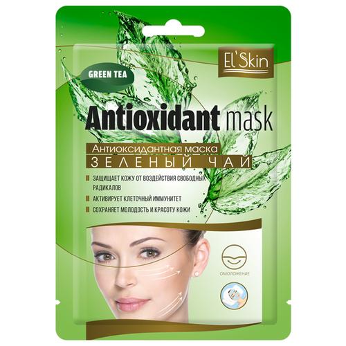 Купить El'Skin Тканевая маска Antioxidant Mask Green Tea антиоксидантная Зеленый чай, 15 г