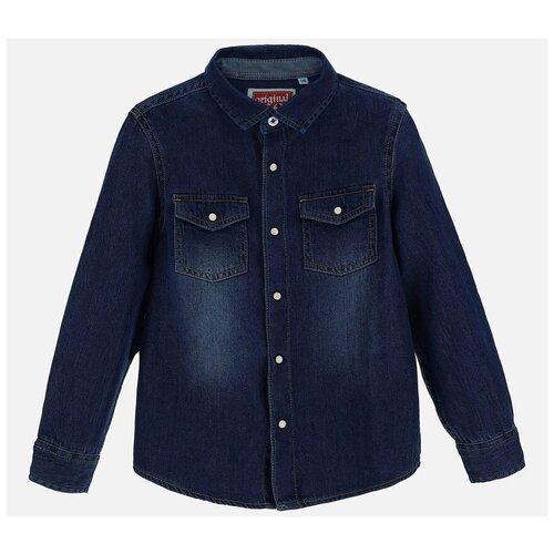 Рубашка Original Marines размер 116, синий рубашка fleur de vie 24 1860 рост 116 синий