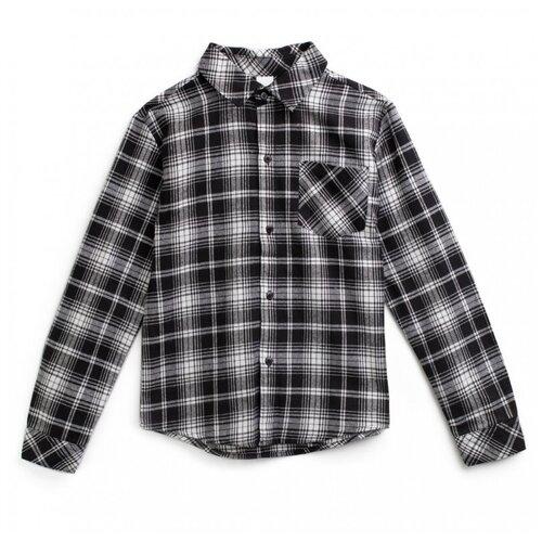 Рубашка playToday размер 128, белый/серый