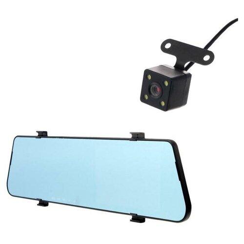 Видеорегистратор автомобильный две камеры, сверхтонкий, 1080P, TFT 4.5, угол обзора 170°