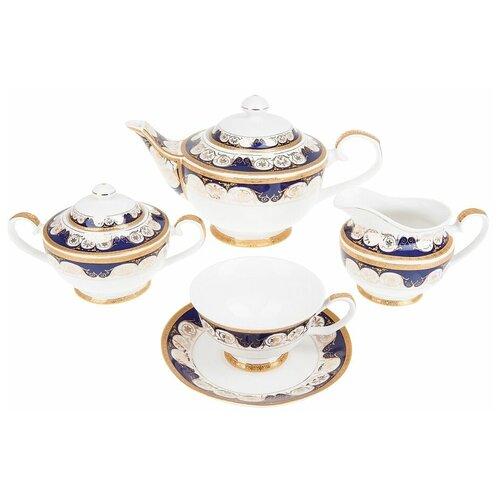 набор чайный best home porcelain indigo 200 мл 4 предмета Чайный сервиз Best Home Porcelain Indigo (подарочная упаковка), 6 персон, 15 предм.