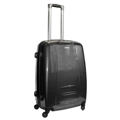 Чемодан Rion+ 418/3 62 л, черный чемодан rion 418 3 62 л голубой