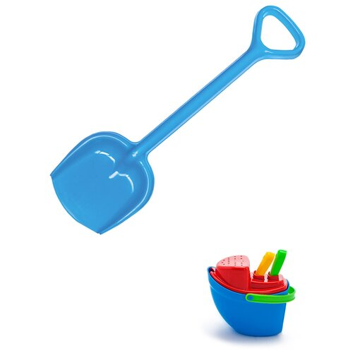 Купить Детский игровой набор для песочницы: Песочный набор Пароходик + Лопатка 50 см синяя, КАРОЛИНА ТОЙЗ, Karolina toys, Наборы в песочницу