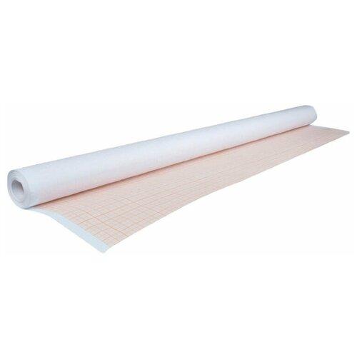 Купить Миллиметровая бумага STAFF масштабно-координатная 128992 2000 х 64 см, 65г/м², 1 л. белый/оранжевый, Бумага для рисования