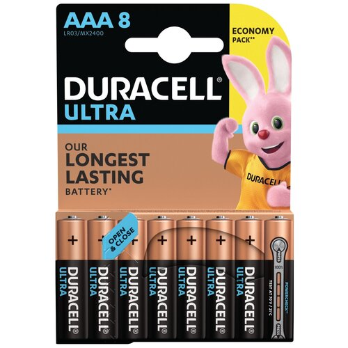 Фото - Батарейка Duracell Ultra Power AAA/LR03, 8 шт. батарея duracell ultra power lr03 4bl aaa 4шт